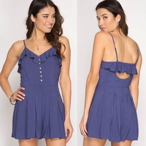Pants - NEW! Ruffle Button Down Romper